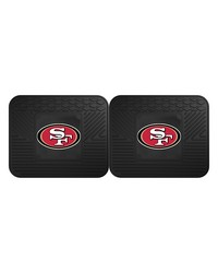 NFL San Francisco 49ers Backseat Utility Mats 2 Pack 14x17 by