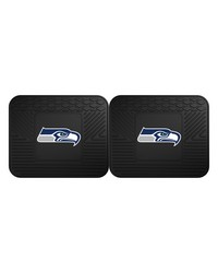 NFL Seattle Seahawks Backseat Utility Mats 2 Pack 14x17 by