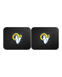 NFL St. Louis Rams Backseat Utility Mats 2 Pack 14x17 by
