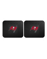 NFL Tampa Bay Buccaneers Backseat Utility Mats 2 Pack 14x17 by