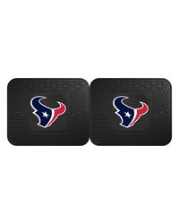 NFL Houston Texans Backseat Utility Mats 2 Pack 14x17 by