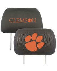 Clemson Head Rest Cover 10x13 by