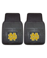 Notre Dame Heavy Duty 2-Piece Vinyl Car Mats 18x27 by