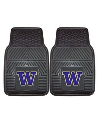 Washington 2pc Vinyl Car Mat Set by