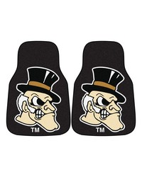 Wake Forest 2pc Carpet Car Mat Set 18x27 by