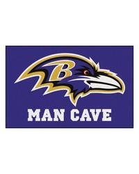 NFL Baltimore Ravens Man Cave Starter Rug 19x30 by