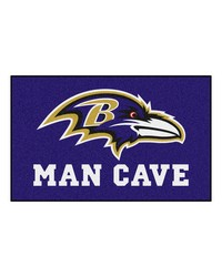 NFL Baltimore Ravens Man Cave UltiMat Rug 60x96 by