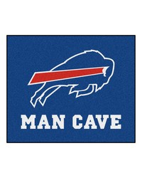 NFL Buffalo Bills Man Cave Tailgater Rug 60x72 by