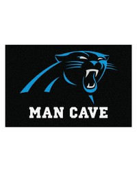NFL Carolina Panthers Man Cave Starter Rug 19x30 by