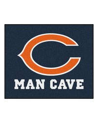 NFL Chicago Bears Man Cave Tailgater Rug 60x72 by