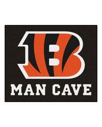NFL Cincinnati Bengals Man Cave Tailgater Rug 60x72 by