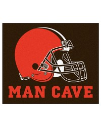 NFL Cleveland Browns Man Cave Tailgater Rug 60x72 by