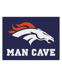 NFL Denver Broncos Man Cave AllStar Mat 34x45 by