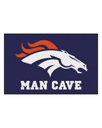 NFL Denver Broncos Man Cave Starter Rug 19x30 by