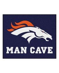 NFL Denver Broncos Man Cave Tailgater Rug 60x72 by