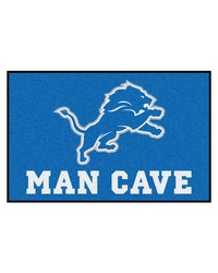 NFL Detroit Lions Man Cave Starter Rug 19x30 by