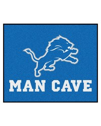NFL Detroit Lions Man Cave Tailgater Rug 60x72 by