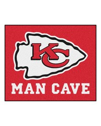 NFL Kansas City Chiefs Man Cave Tailgater Rug 60x72 by