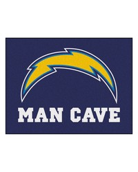 NFL San Diego Chargers Man Cave AllStar Mat 34x45 by