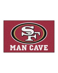 NFL San Francisco 49ers Man Cave UltiMat Rug 60x96 by