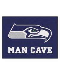 NFL Seattle Seahawks Man Cave AllStar Mat 34x45 by