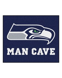 NFL Seattle Seahawks Man Cave Tailgater Rug 60x72 by