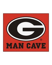 Georgia Man Cave Tailgater Rug 60x72 by