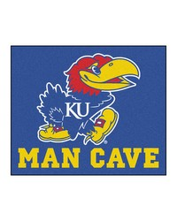 Kansas Man Cave Tailgater Rug 60x72 by