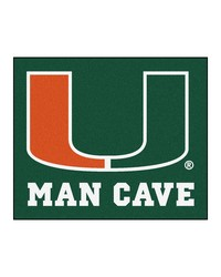Miami Man Cave Tailgater Rug 60x72 by