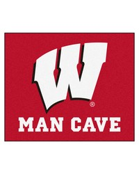 Wisconsin Man Cave Tailgater Rug 60x72 by