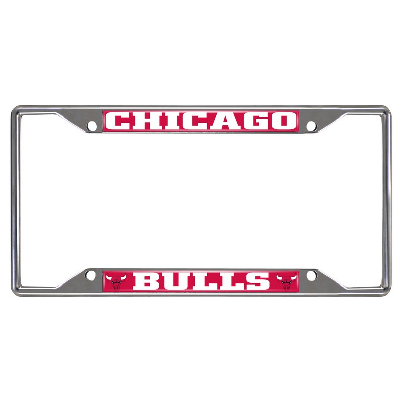 NBA Chicago Bulls License Plate Frame 6.25x12.25 - InteriorDecorating
