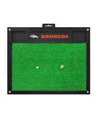 NFL Denver Broncos Golf Hitting Mat 20 x 17 by