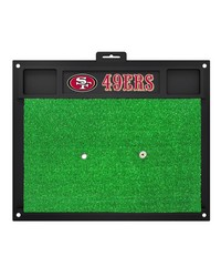 NFL San Francisco 49ers Golf Hitting Mat 20 x 17 by