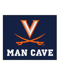Virginia Man Cave Tailgater Rug 60x72 by