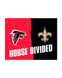 NFL Atlanta Falcons New Orleans Saints House Divided Rugs 34x45 by