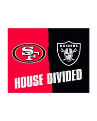 NFL San Francisco 49ers Oakland Raiders House Divided Rugs 34x45 by