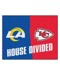 NFL St. Louis Rams Kansas City Chiefs House Divided Rugs 34x45 by