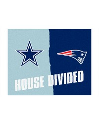 NFL Dallas Cowboys New England Patriots House Divided Rugs 34x45 by