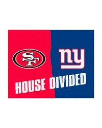 NFLSan Francisco 49ers New York Giants House Divided Rugs 34x45 by