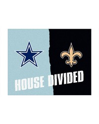 NFL Dallas Cowboys New Orleans Saints House Divided Rugs 34x45 by