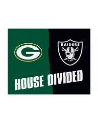 NFL Green Bay Packers Oakland Raiders House Divided Rugs 34x45 by