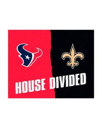 NFL Houston Texans New Orleans Saints House Divided Rugs 34x45 by