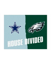 NFL Dallas Cowboys Philadelphia Eagles House Divided Rugs 34x45 by