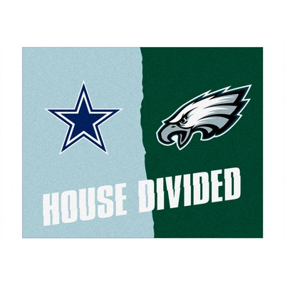 Nfl Dallas Cowboys Philadelphia Eagles House Divided Rugs