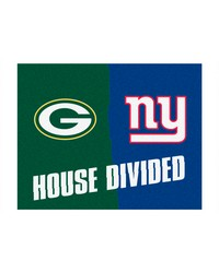 NFL Green Bay Packers New York Giants House Divided Rugs 34x45 by