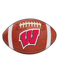 Wisconsin Badgers Football Rug by
