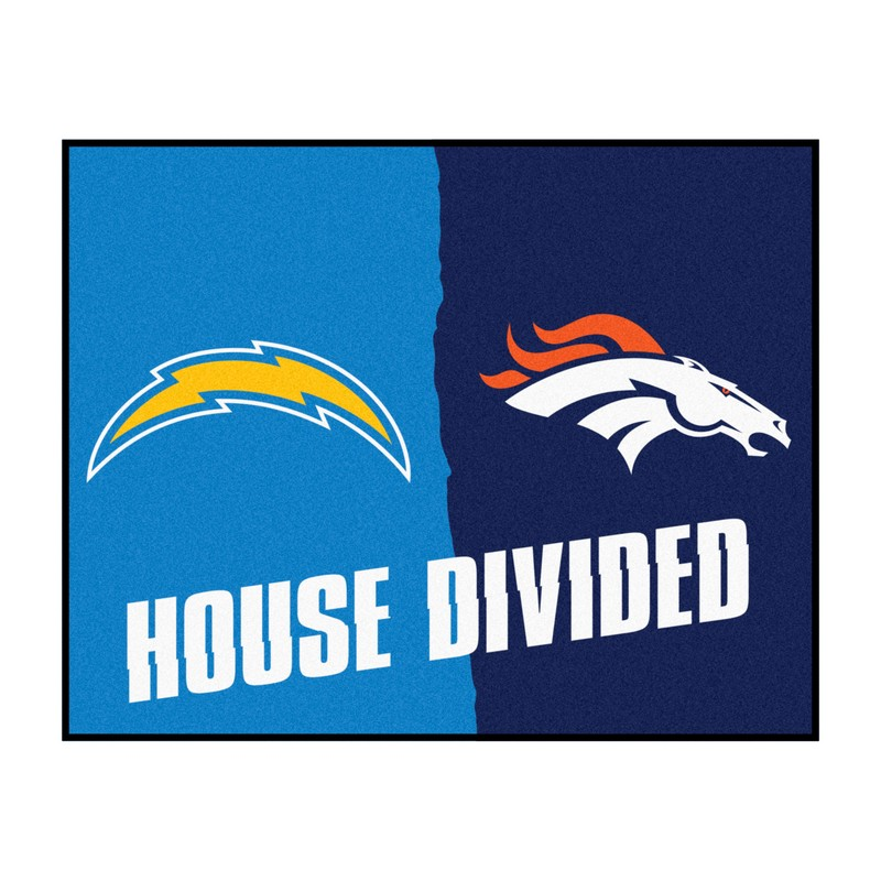 Nfl San Diego Chargers Denver Broncos House Divided Rugs