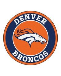 NFL Denver Broncos Roundel Mat by