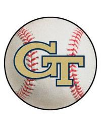 Georgia Tech Yellow Jackets Baseball Rug by