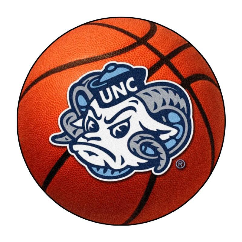 North Carolina Tar Heels Basketball Rug InteriorDecorating
